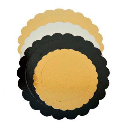 Embalajes Pastor | Envases Pastelería - Discos Borde Ondulado Oro