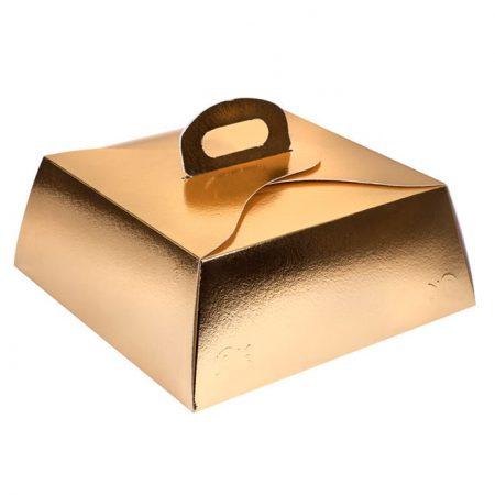 Embalajes Pastor | Envases Pastelería - Caja Metalizada Oro Lingote