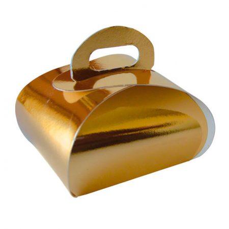 Embalajes Pastor | Envases Pastelería - Caja Metalizada Oro Mariposa
