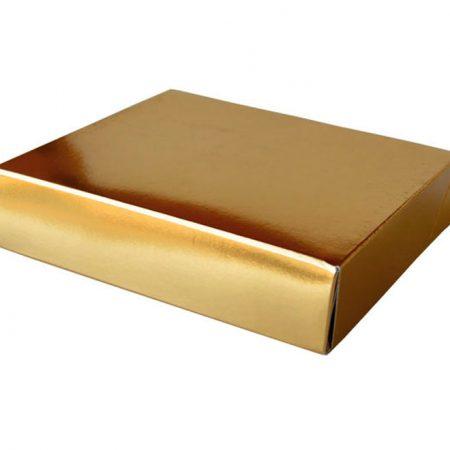 Embalajes Pastor | Envases Pastelería - Caja Metalizada Oro Pastas
