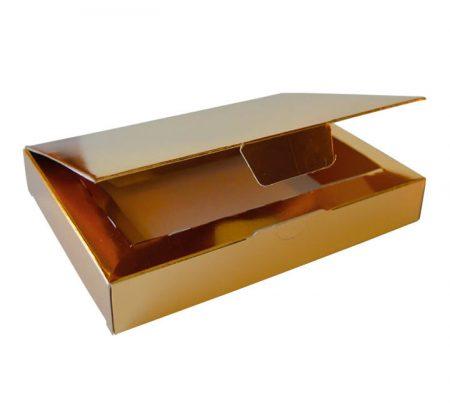 Embalajes Pastor   Envases Pastelería - Caja Metalizada Oro Yemas