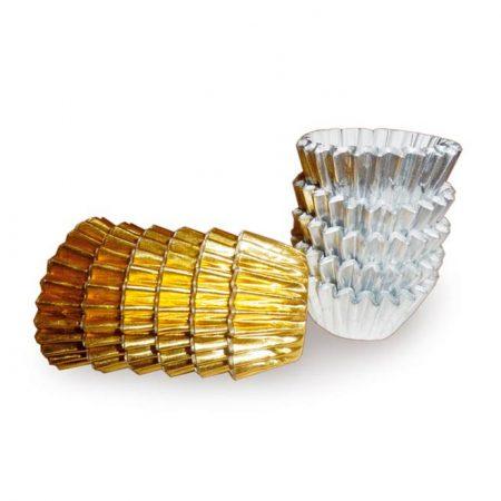 Embalajes Pastor | Envases Pastelería - Cápsulas Uso Repostería Papel Plata Oro